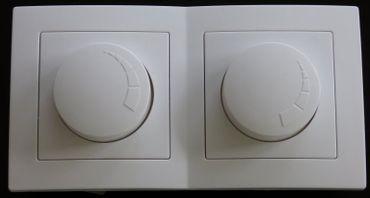 Levina Kunststoff 2 x LED Dimmer weiß 7-110 Watt -#7924