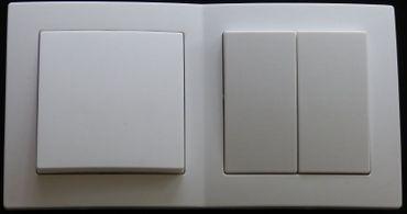 Levina Kunststoff Kombi Wechsel Schalter mit Serien Schalter -#7927