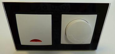 Abelka Nuovo schwarz GLAS Kontroll + LED Dimmer -#7983