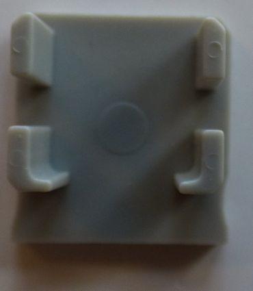 ALU Profil Endkappe 16 x 18 mm grau geschlossen -#8098