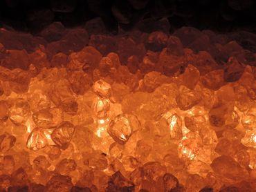 Gabionen Leuchte LED 360 Grad 2 x 0,9 m orange -#8136 – Bild 1