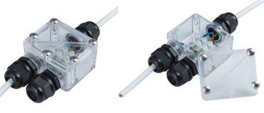 Kabelverbinder 2-fach IP-67 für Aussen 2-er Pack -#6273