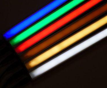 Alu Profil Leuchte 1 m 450 Lumen 12 Watt Netzteil gelb -#8252 – Bild 1