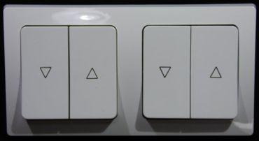 DELPHI 2 x Jalousie Taster weiß  Schalter Serie-#8412