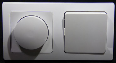 DELPHI 1x Wechselschalter 1x Led Dimmer weiß Elektro Dose Stecker Kupplung -#8421