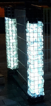Gabionen Leuchte LED 360° 2 x 0,9 m warmweiss -#8517 – Bild 1