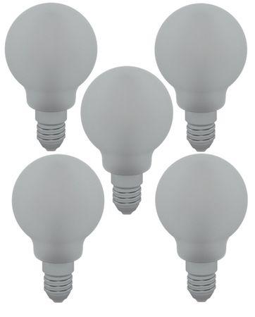 LED Filament Tropfen 4 Watt Matt kaltweiss 5 Stück -#8657 – Bild 1