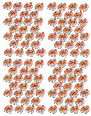 Wago Klemme 3-pol. Mit Hebel bis 4 mm²  100 Stck -#8794 – Bild 1
