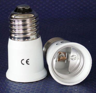Adapter von E-27 auf Sockel 2 x E-27 Kunstoff 2-er Pack -#6149