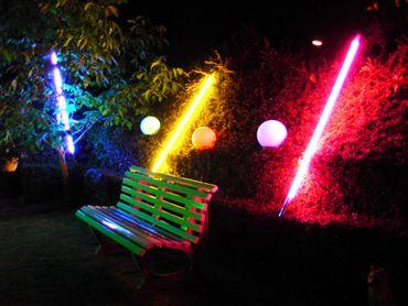 LED Leuchtstab 18 W 123 cm IP-44 Blendschutz Rot -#9657 – Bild 5