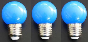 LED Lampe Tropfen 1 Watt E-27 230 Volt blau 3 Stück -#326 – Bild 1