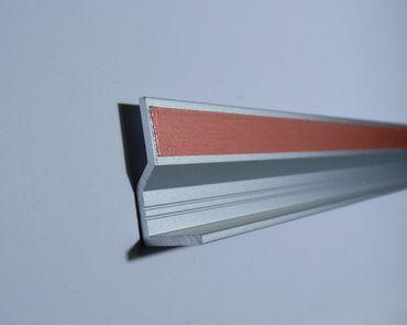 Glas-Kanten Profil Aluminium für LED Streifen 960 mm -#557