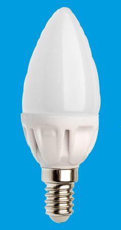 LED Kerze 4 Watt 350 Lumen E14 kaltweiss -#6574 – Bild 1