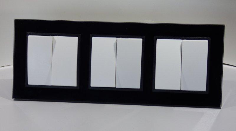 Abelka Nuovo Schwarz Glas 3 X Jalousie Taster 6788 Abelka Nuovo
