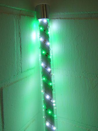 S-LED Leuchtstab 0,5 m weiss-grün 12 Volt Netzteil Ø 30 mm -#6939 – Bild 1