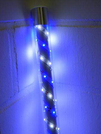 S-LED Leuchtstab 0,5 m weiss-blau 12 Volt Netzteil Ø 30 mm -#6940 – Bild 1