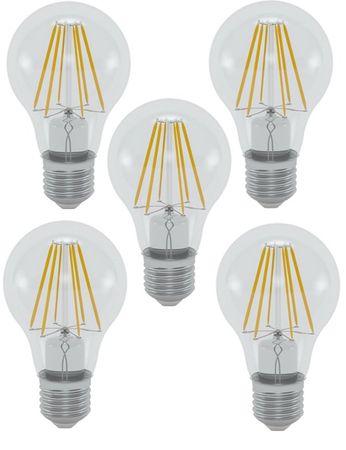 LED Glühlampe 4 Watt warmweiss klar 450 Lumen 5 Stück -#7669 – Bild 1