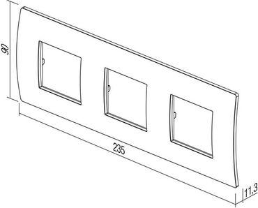 ORGON Glas Rahmen anthrazit 3-fach -#8886 – Bild 2