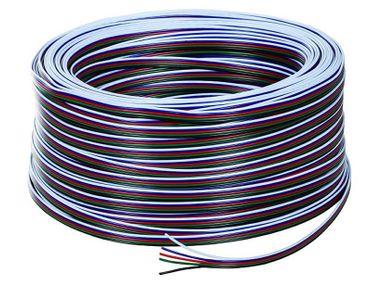 Kabel 5-adrig flach RGB + kaltweiss/warmweiss in 5 Farben 1 m -#8727