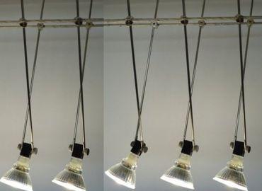 Led Seilsystem 5 x Stäbchen Spot schwarz 5 x Led 6Watt 120°kaltweiss -#8732 – Bild 1