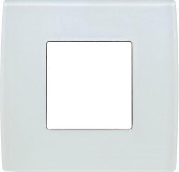 ORGON Glas weiß Rahmen 1-fach -#9001  – Bild 1