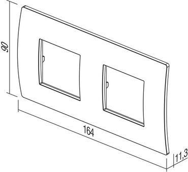ORGON Glas weiß Rahmen 2-fach -#9002 – Bild 2
