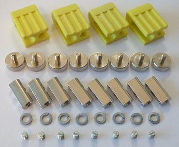 Lampen Halter gelb für Stift Sockel LED oder Halogen Lampen im 4-er Satz -#26