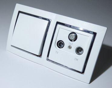 Levina S 2-er 1 x Taster 1 x Antenne silberner Rand -#9530