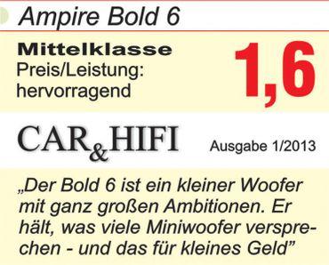 AMPIRE Subwoofer, 16,5cm/6,5'', 4+4 Ohm – Bild 5