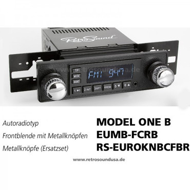 RETROSOUND Frontblende mit Metall-Bedienknöpfe, Mini, ''Chrome/Black''