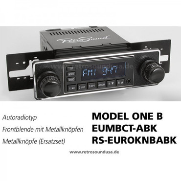RETROSOUND Frontblende mit Metall-Bedienknöpfe, Mini-Chromrand, ''Black''