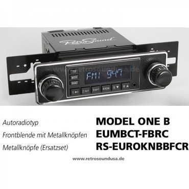 RETROSOUND Frontblende mit Metall-Bedienknöpfe, Mini-Chromrand, ''Black/Chrome''