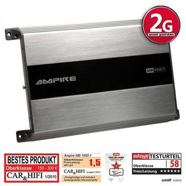 AMPIRE Endstufe, Monoblock 1x 1000 Watt, Class D (2. Generation) – Bild 2