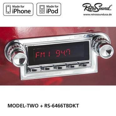 "RETROSOUND Autoradio Model Two"", verchromte Tasten"" – Bild 2"