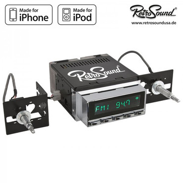 "RETROSOUND Autoradio Model Two"", verchromte Tasten"" – Bild 3"