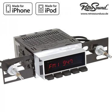 """RETROSOUND Autoradio Model Two"""", verchromt mit schwarzen Tasten"""" – Bild 2"""