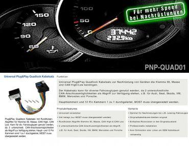 AMPIRE Universeller Plug&Play Quadlock Kabelsatz – Bild 2