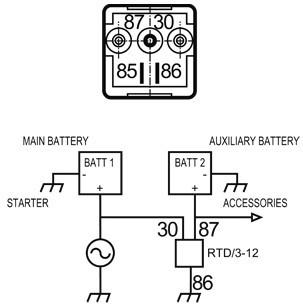 NAGARES Batterie-Trennrelais 100 Ampère, 12 Volt – Bild 2