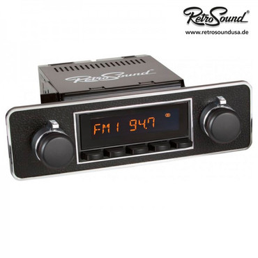 "RETROSOUND Frontblende - Euro black w/ chrome trim"""" – Bild 2"