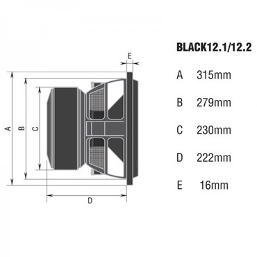 AMPIRE Subwoofer, 30cm/12'', 2 + 2 Ohm, Black12.2 – Bild 3