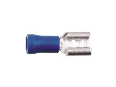 Flachsteckhülse blau 1.5 - 2.5 mm / 6.3 mm (100 Stück)
