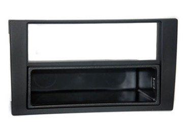 2-DIN Einbaurahmen mit Ablagefach, Audi A4 Doppel DIN Radioausschnitt 07 ->