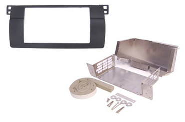 Doppel DIN Einbaurahmen, BMW 3er E46 Blende + Blech- Montageteile