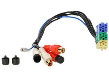 Low Level - PASSIV Adapter, MINI ISO 20-pol Stecker auf Cinchbuchsen