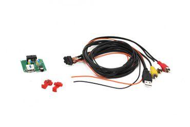 AUX-USB+VIDEO mit Chinch fahrzeugspezifisch, Kia USB 2.0 + AUX Stecker  L= 68cm