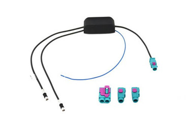 Antennenverstärker FM, m. Potentiometer +/-4dB DIN Buchse > Stecker