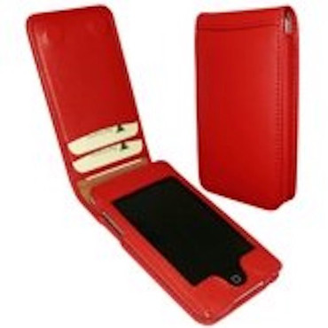Apple iPod Touch Ledertasche 2.Genenration (Rot (8, 16, 32GB))