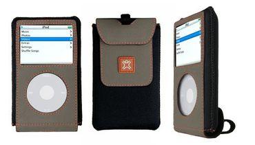 XtremeMac MicroGlove Hülle für iPod 5 G. 30/ 60 GB Grau