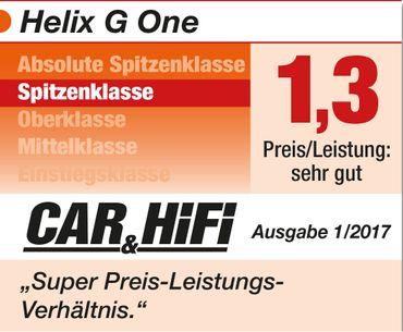 Helix G-ONE -1-Kanal Subwoofer-Verstärker mit integrierter aktiver Frequenzweiche, 1 Ohm Stabilität – Bild 4