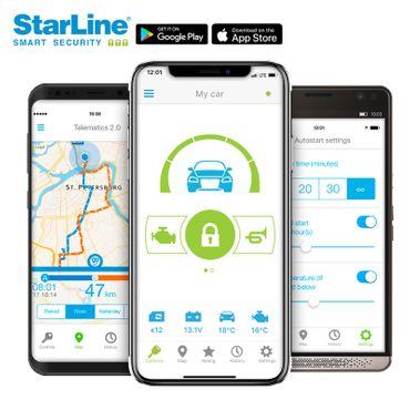 StarLine CAN-Bus Alarmsystem mit CAN-Bus Wegfahrsperre, GSM und GPS [inkl. Montage] – Bild 1